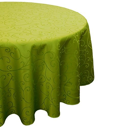 60 pouces damassé de vert lime ronde Nappe - Accueil Arts de la Table de Noël