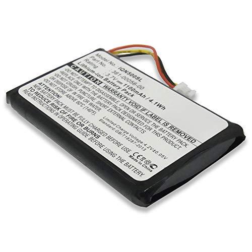 subtel® Qualitäts Akku kompatibel mit Garmin Drive 51, 50 / DriveSmart 51, 5 / Nüvi 55, 40, 30   Mitac Mio Spirit 8500, 361-00056-00 361-00056-50 361-00045-00 1100mAh Ersatzakku Batterie