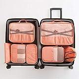 zyh cubi da Viaggio,Organizer Valigia Set di 7,Custodia per Bagagli Custodia Impermeabile per la Finitura dei Vestiti,Una varietà di opzioni di Colore
