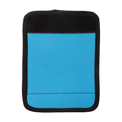 Maleta blanda Etiquetas de viaje Funda de neopreno portátil para manija de equipaje Rectángulo de neopreno para carrito de compras icycle para bolsa de viaje(blue)