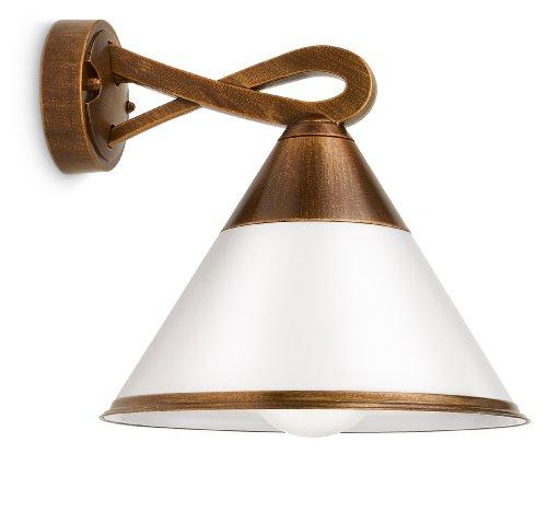 Philips Lighting Fig Lampada da Parete da Esterno, Lanterna Down in Alluminio, Bronzo