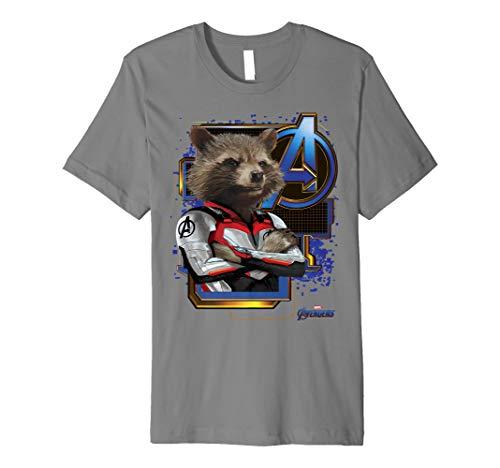 Marvel Avengers Endgame Rocket Logo Graphic T-Shirt