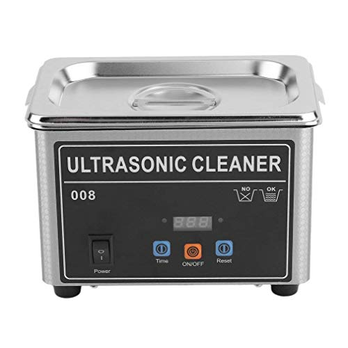 Trans Potent Professional Digital Ultrasonic Cleaner, Stainless Steel Cleaning Machine for Jewelry, Eyeglasses, Coins, Tools, Watches, Hospital Medical Equipment, 0.8L