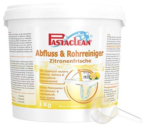 Abfluss- und Rohr-Reiniger, Pulver mit Zitronen-Duft, 1 kg