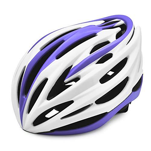 Lixada Casque de vélo léger avec Rembourrage Amovible Amovible réglable Hommes Femmes Casque de Course sur Piste Casque de vélo de vélo dans Le Moule pour équipement de Cyclisme sur Route