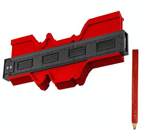 型取りゲージ 250mm コンターゲージ 測定ゲージ Goalwoo 測定工具 輪郭ゲージ DIY複製用 プロフィイルゲージ 不規則測定器 曲線測定 木工用鉛筆1本