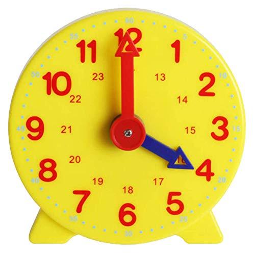 Yeglg Reloj infantil de 10 cm, juguete educativo para niños, despertador, 24 horas, hora ajustable, reloj de aprendizaje de juguete para niños y estudiantes, regalo para niños