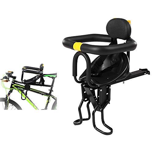 Skyout Seggiolino Bici Anteriore Sella Bambini Sella Removibile Seggiolino Bicicletta Anteriore con Recinzione e Schienale Adatto da 8 Mesi a 6 Anni per Bici da Corsa MTB