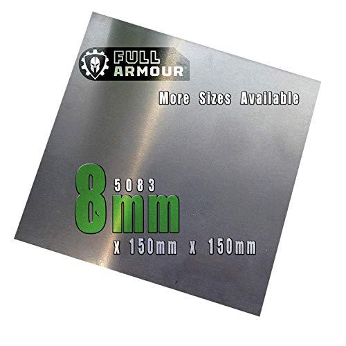 Piastra in alluminio da 8 mm, 5083 150 mm x 150 mm (15cm x 15cm)