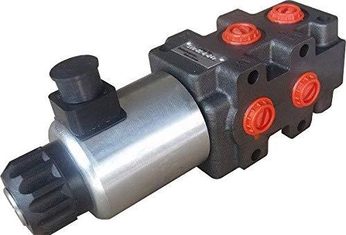 hydraulic 6 port solenoid diverter/selector valve 1/2' BSP 12VDC 24gpm SVV-6/2
