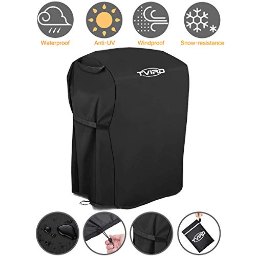 Tvird BBQ Grill Cover 30-inch Waterproof Heavy Duty Gas Grill Covers Fits for Barbeque Grill of Weber, Brinkmann, Char Broil, Holland and More | Rip-Proof and Anti-UV | Oxford Fabric BBQ Cover Covers Grill
