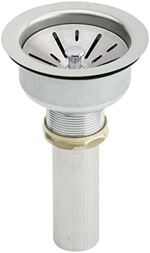 Elkay LK35B 3 1 2 Drain Fitting with Type 304 Stainless Steel Body Strainer Basket and Tailpiece product image