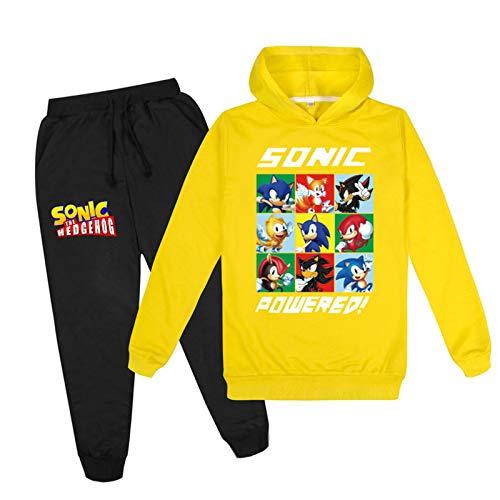 mama stadt Sonic The Hedgehog Hoodies Sweatshirt und Hosen für Jungen Mädchen Sportswear Sets Unisex Trainingsanzüge Sportanzug/130