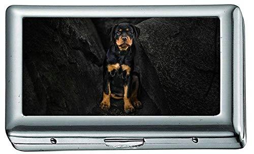 Zigarettenetui Box, Rottweiler Puppy xe Zigarettenetui/Box, Kreditkartenetui für Damen Herren