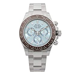 Review Rolex Oyster Perpetual Cosmograph Daytona Ice Blue Dial Automatic Men's Chronograph Watch