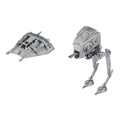 Bandai Vehicle Model 008 Star Wars AT-ST (Altura 60mm) & Snow Speeder (Altura 40mm) Plastic Model Maqueta