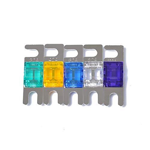 Carviya 5 Stück Mini-ANL-Sicherung 30 Ampere 40 Ampere 60 Ampere 80 Ampere 100 Ampere (30/40/60/80/100 Ampere-Kombination)
