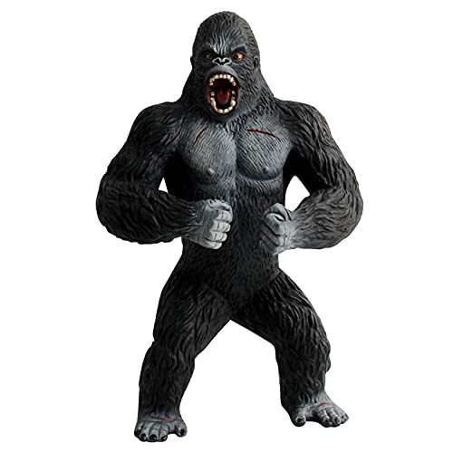 Clacce 3D Anime Ornamente Anime Big Kings Monkey Kong Gorilla Figur Modellspielzeug Für Kinder Modell Schreibtisch Tischdekoration Neues Zubehö Kindertagsgeschenk