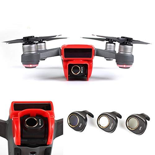XINGRUI Zubehör 3 in 1 HD Drone Kamera ND8 & CPL & UV Objektivfilter Set for DJI Spark