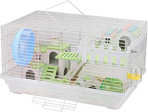 LITINGT Jaula para Conejillos de Indias, Jaula para Conejillos de Indias Plegable de Dos Niveles, hábitat de jaulas para Animales pequeños, casa para Conejillos de Indias y Animales pequeños con Acc
