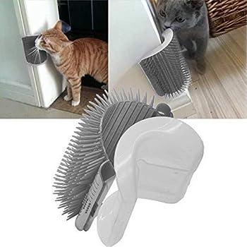 SYWAN 4pcs Cat Self Groomer avec Catnip, Cat Wall Corner Massage Peigne de toilettage Brosse Outil de Massage pour Les Chats avec Fourrure Longue