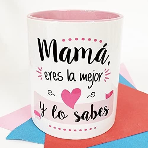 La Mente es Maravillosa - Taza con frase y dibujo divertido (Mamá, eres la mejor y lo sabes) Regalo original para MAMÁ