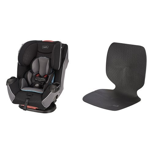 Evenflo Platinum Symphony LX All-In-One Car Seat, Montgomery with Car Undermat & Seat Protector