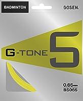 ゴーセン(GOSEN) バドミントン ストリングス ジートーン 5 G-TONE 5 10m BS065 フラッシュイエロー(FY)