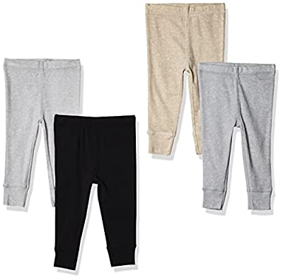 Gerber Baby Boys' 4-Pack Pants, Gray Heather/Black, 0-3 Months from GERLO