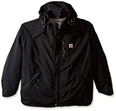 Carhartt Company Gear Collection Waterproof jacket featuring a water-repellent finish, storm placket, and breathable membrane