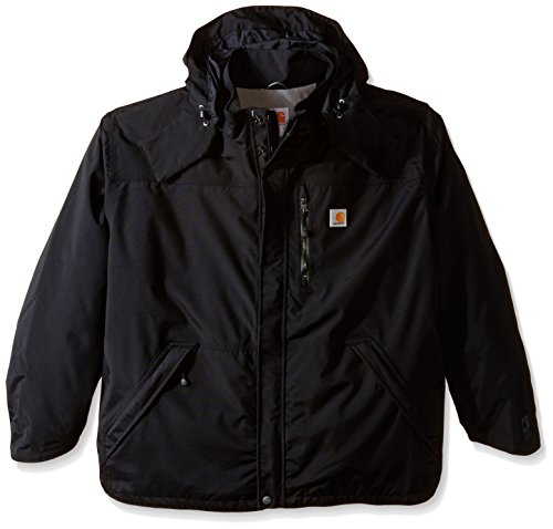 Carhartt Men's Big & Tall Shoreline Jacket Waterproof Breathable Nylon,Black,XXX-Large