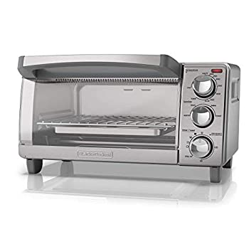 BLACK+DECKER 4-Slice Toaster Oven with Natural Convection Stainless Steel TO1760SS  Renewed