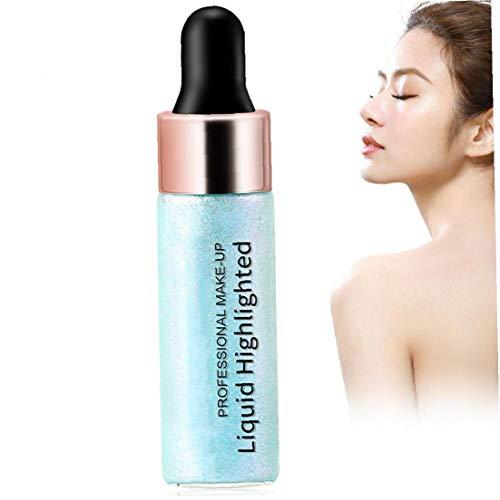 1 Pc Liquid Highlighter Durable Trimming Impermeable Resalte Maquillaje Liso Shimmer Glow Liquid Iluminador Para La Cara De Contorno De Maquillaje (01)