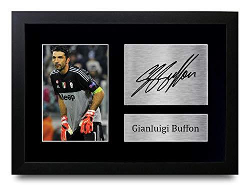 HWC Trading Gianluigi Buffon A4 Gerahmte Signiert Gedruckt Autogramme Bild Druck-Fotoanzeige Geschenk Für Juventus Fußball Fans