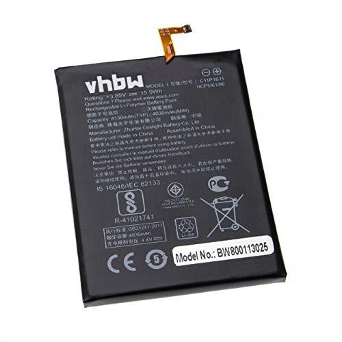 vhbw Li-Polymer Batteria 4100mAh (3.85V) per cellulari e smartphone Asus Zenfone 3 Max, ZC520Tl sostituisce C11P1611, C11-P1611.