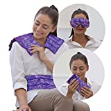 Nature Creation Full Treatment Set- Herbal Heating Pad/Cold Pack - Hot and Cold Therapy (Purple Flower)