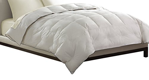 Pacific Coast Feather Company 67821 Light Warmth Down Comforter, Cotton Cover, Hypoallergenic, Twin