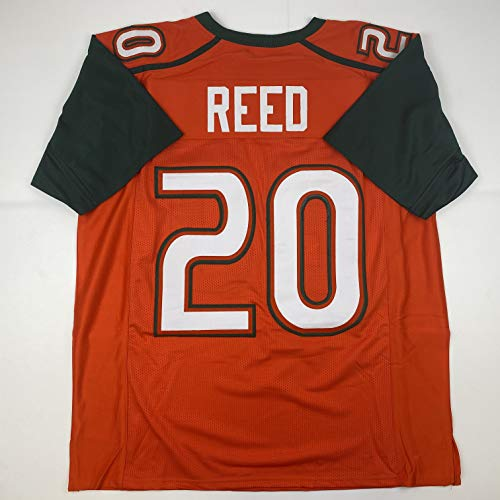 Unsigned Ed Reed Miami Orange Custom Stitched College Football Jersey Size Men's XL New No Brands/Logos