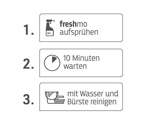Mediashop Freshmo Set   2 Stück mit Bürste   Öko-Auffrischer für Holz, Stein, Kunststoff   Pflege   Das Original aus dem TV - 5