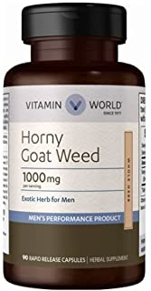 Vitamin World Horny Goat Weed 1000 mg 90 rapid release capsules