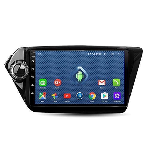 DGDD 2G+32G Android 10.0 9 Pulgadas 2.5D HD Pantalla Táctil Navegación GPS Coche Estéreo Radio Ser Aplicable para Kia K2 (2010-2015) Apoyo Cámara De Visión Trasera WiFi 4G FM Am SWC DSP Mirror Link