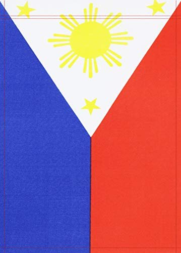 Kind Girl 2 Pack Philippines Filipino Garden Flag,Indoor Outdoor Decoration Flags,Home, Garden, Office Decorations,Double-Sided Flags,DIY Celebration Holiday Decoration.
