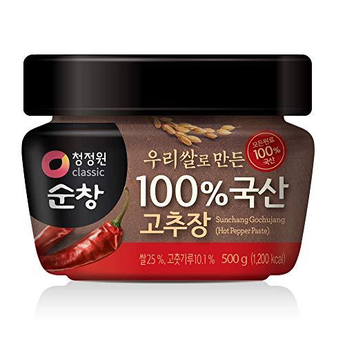 Chung Jung One Gochujang Paste, Premium Korean Red Chili Paste with 100% Korean Ingredients, 500g (1.1lb) (1 Pack)