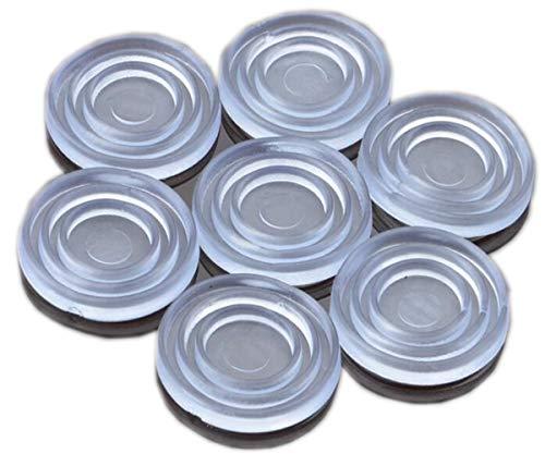 Klarglas-Tischplattenpuffer, Glas-Tischplattenpuffer, weiches Material, zur Steuerung der Glasbewegung, Kunststoffstoßstange für Tischglasplatte, Glasplatten-Saugnapf, Glasplatten-Abstandhalter,(groß)