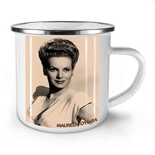 N\A Maureen Ohara Celebrity Taza de Esmalte Star Cup para Acampar y al Aire Libre - 11 oz