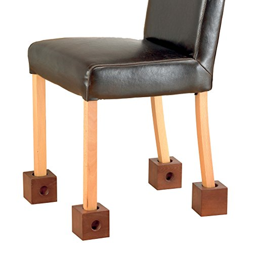 Homecraft Wooden Chair Raisers (Eligible for VAT relief in the UK), 3' Rise, Raise Chair Height, Fits Various Chair Leg Widths, Helpful for Adapting Furniture for Elderly, Disabled, Handicapped
