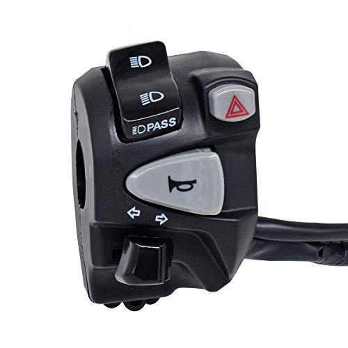 No-Branded Motocicleta ATV Manillar Interruptores de Control Faros antiniebla Luz de luz Señal de Giro Cuerno con arnés de cableado 11 W.S.T.T.S.W