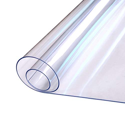 EGROON PVC製 透明 テーブルクロス テーブルマット デスクマット 透明マット テーブルカバー 幅40-140CM 長さ60-200CM 厚さ1MM 多機能 撥水 耐久 汚れ防止 50CM*100CM