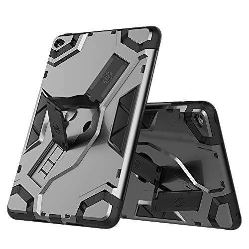 SENSBUN Funda para tablet iPad Mini (7.9'') (2019) (5ª generación), resistente armadura suave TPU y cubierta de PC dura con correa de mano antideslizante y soporte a prueba de golpes, gris oscuro