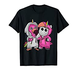 T-Shirt Einhorn Flamingo